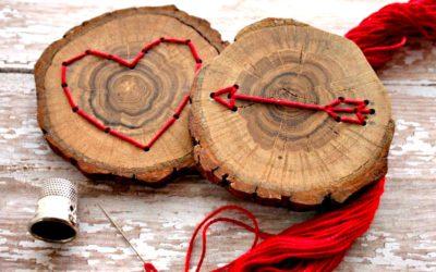 Vyšívání na dřevě