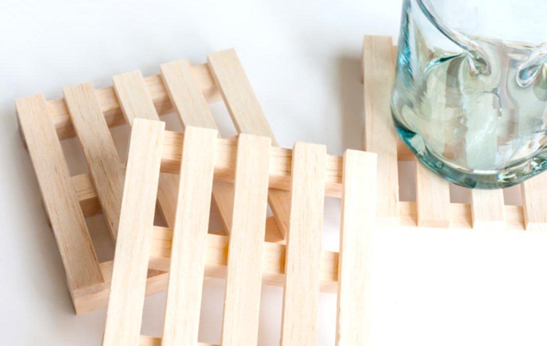 Dřevěné podložky na hrnky