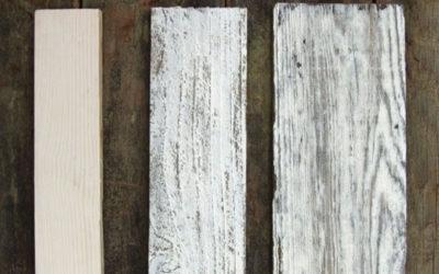 3 metody jak se dá obarvit dřevo do bílé barvy s patinou starého dřeva