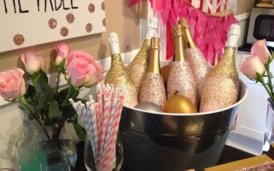 Barvíme lahev šampaňského na svatbu
